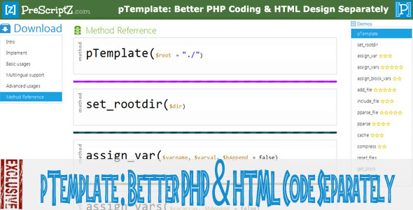 Photo of Get pTemplate: Better PHP Code-HTML Design Separately Download