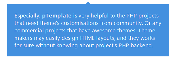 pTemplate: Better PHP Code-HTML Design Separately - 7