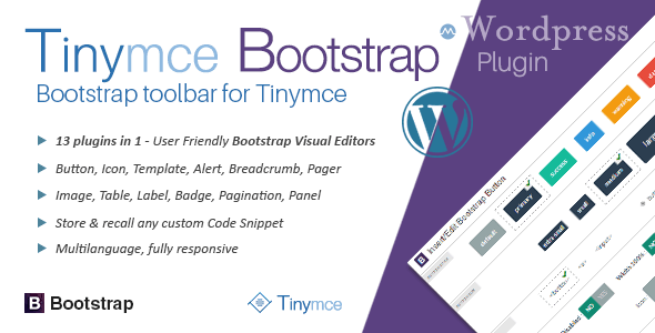 Photo of Get tinyMce Bootstrap Plugin for Wordpress Download
