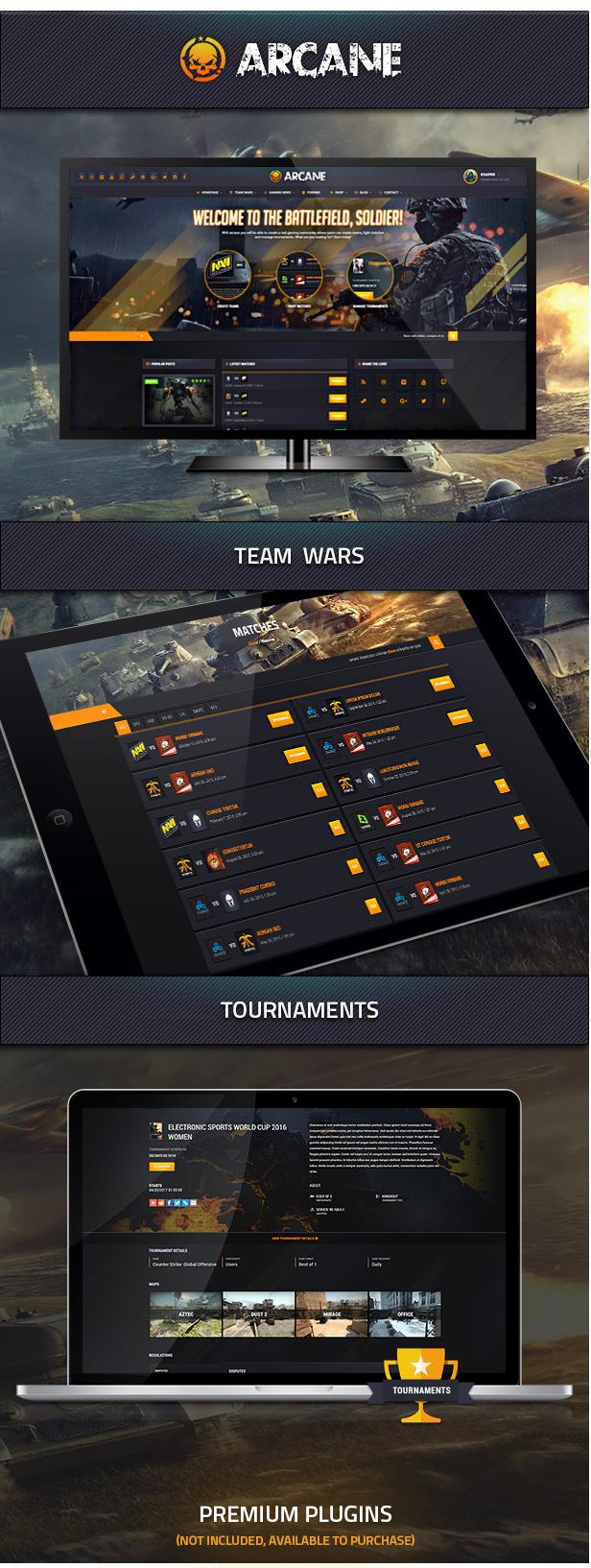 Arcane - The Gaming Community Theme - 1
