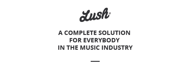 Lush - Music Band & Musician WordPress Theme