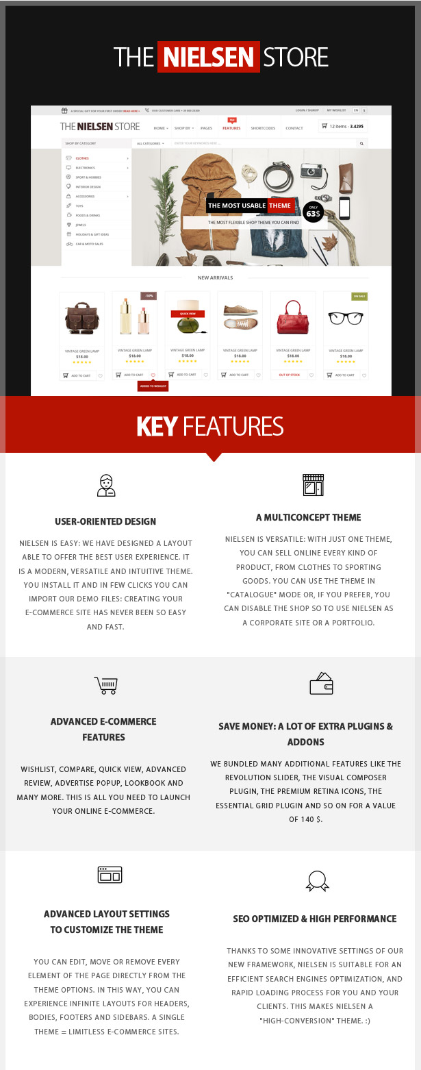 Nielsen - E-commerce WordPress Theme - 1