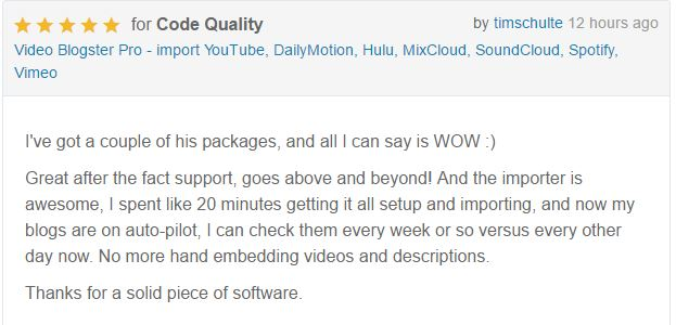 Video Blogster Pro - import YouTube videos to WordPress. Also DailyMotion, SoundCloud, Vimeo, more - 10