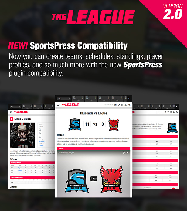 The League - Sports News & Magazine WordPress Theme - 1