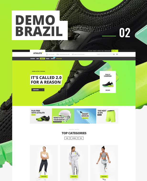 athlete2 magento 2 theme