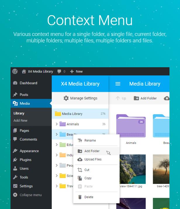 X4 Media Library for WordPress - 8