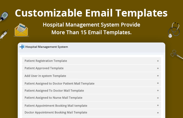 email alerts Hospital management system review