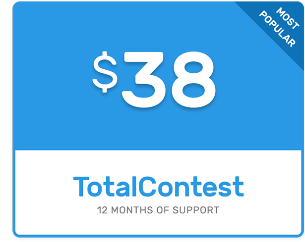 Buy TotalContest Pro with 12 months of support