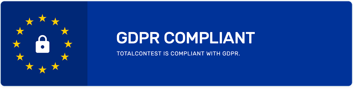 TotalContest Pro is GDPR ready.