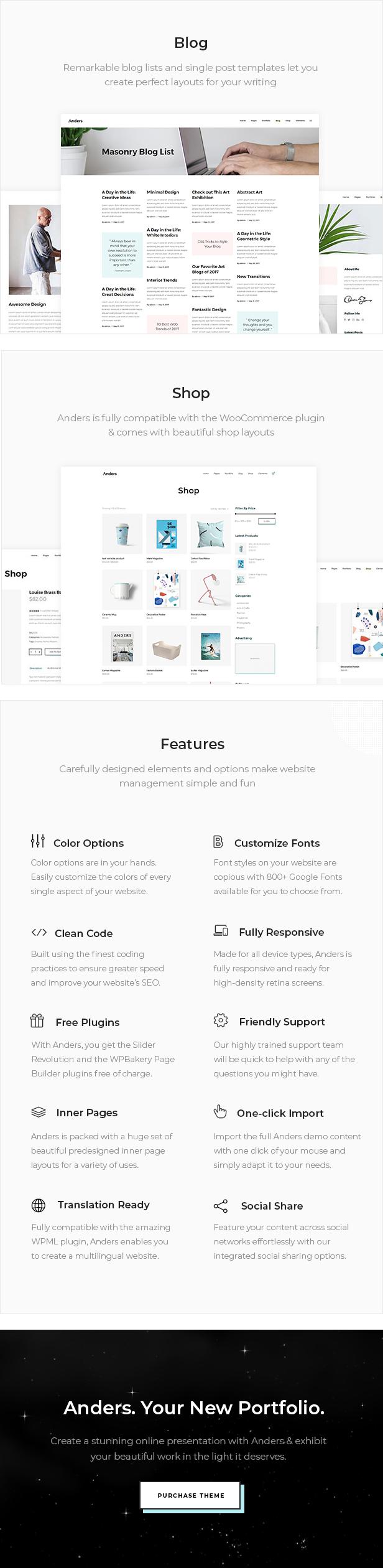 Anders - Design Portfolio Theme - 4
