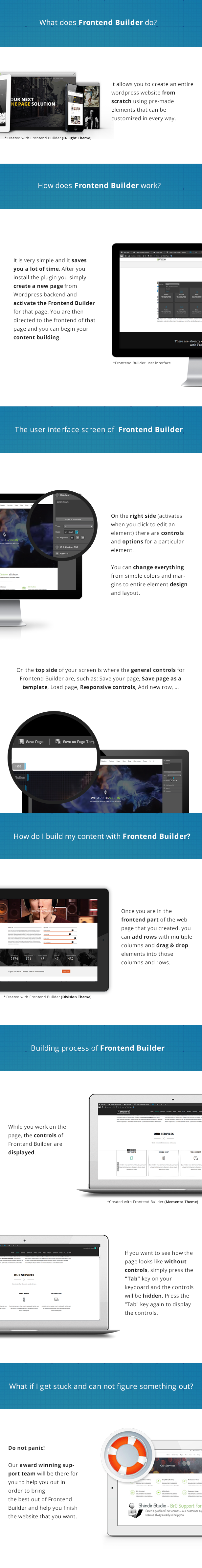 Frontend Builder - WordPress Content Assembler, Page Builder & Drag & Drop Page Composer - 1