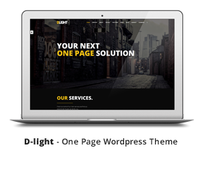 D-light - One Page Creative WordPress Template
