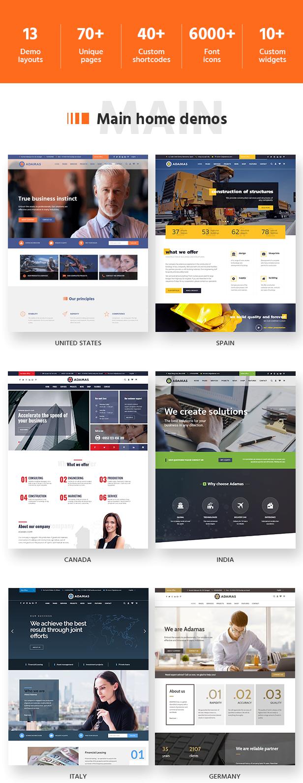 Adamas WordPress Corporate Theme