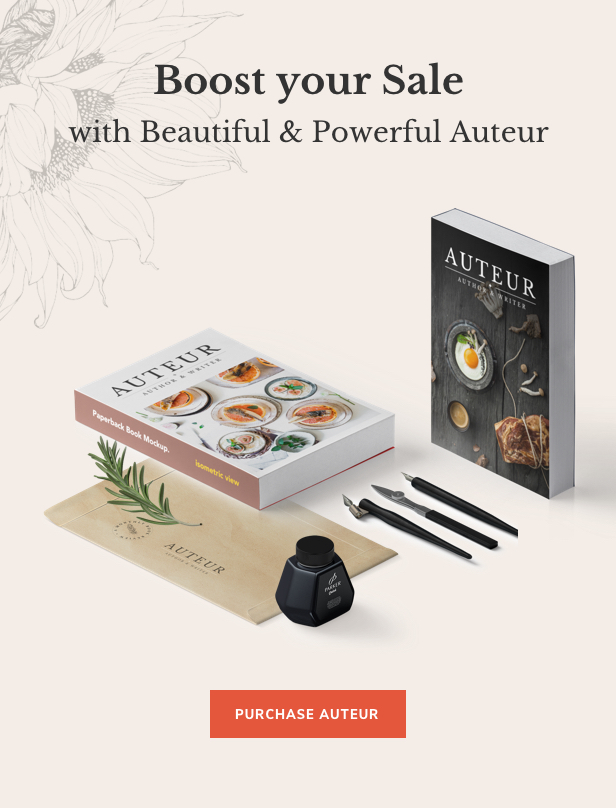 Auteur – WordPress Theme for Authors and Publishers - 18