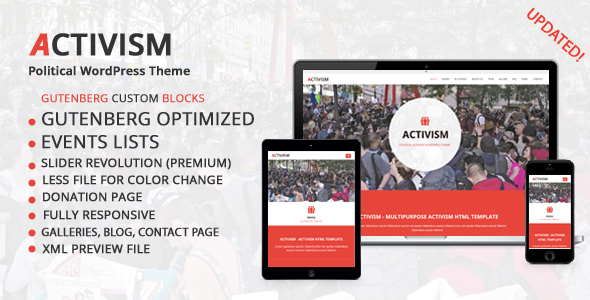 Photo of [Download] Activism – Political WordPress Theme
