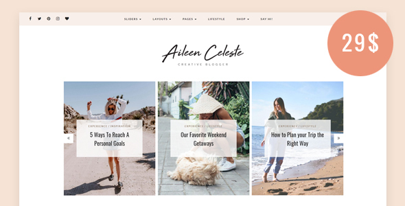 Photo of [Download] Aileen – A Personal Blog & Shop Theme