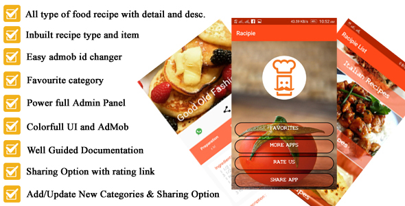 Photo of [Download] Android Recipe App for Cooking full Code with PHP Admin Panel