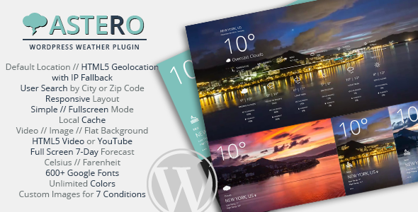 Photo of [Download] Astero – WordPress Weather Plugin