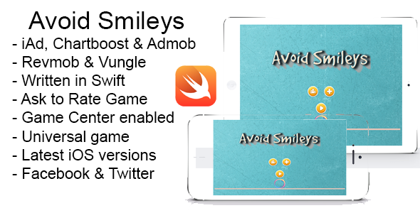 Photo of [Download] Avoid Smileys Swift iOS 8 Source Code iPad iPhone