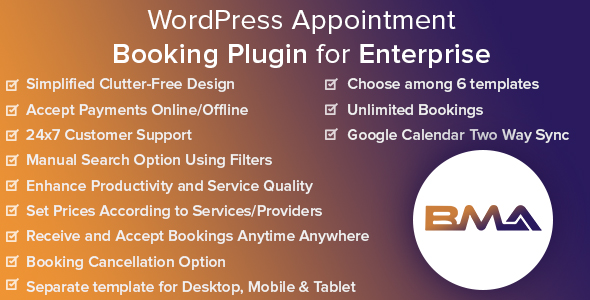 Photo of [Download] BMA – WordPress Appointment Booking Plugin for Enterprise