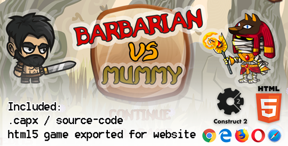 Photo of [Download] Barbarian VS Mummy HTML5 Platform Game – Construct 2 (.capx + html5 Source-code)