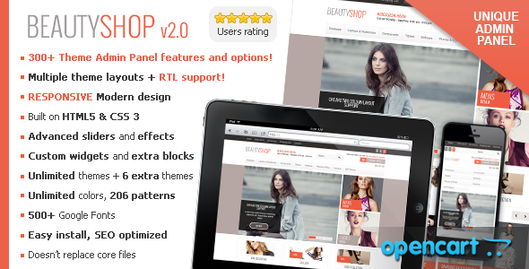Photo of [Download] BeautyShop – Responsive OpenCart theme