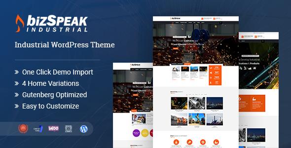 Photo of [Download] BizSpeak – Industrial WordPress Theme