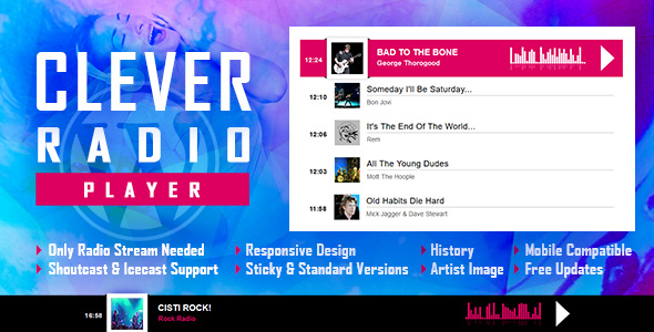 Photo of [Download] CLEVER – HTML5 Radio Player With History – Shoutcast and Icecast – WordPress Plugin