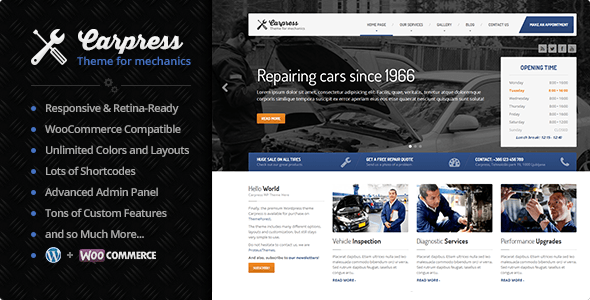 Photo of [Download] CarPress – WordPress Theme For Mechanic Workshops
