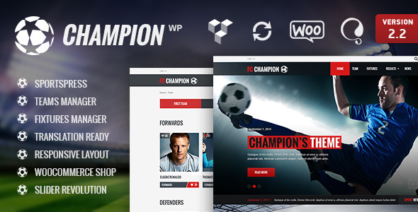 Photo of [Download] Champion – Soccer & Football WordPress Theme