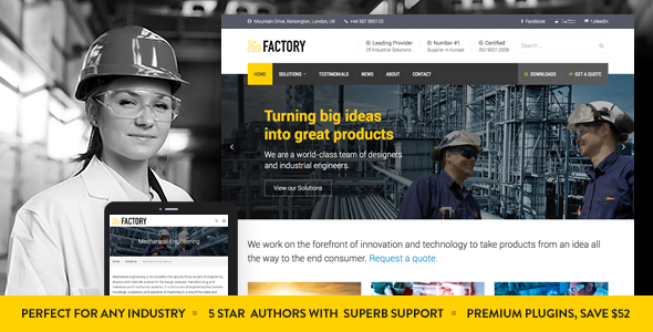 Photo of [Download] Factory – Industrial Business WordPress Theme