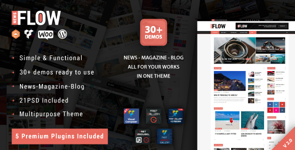 Photo of [Download] Flow News – Magazine and Blog WordPress Theme