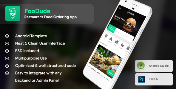 Photo of [Download] Food Ordering & Delivery Android App Template (XML Code in Android) | FooDude