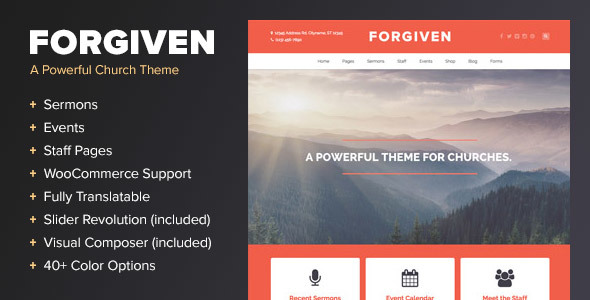Photo of [Download] Forgiven – A WordPress Theme for Churches