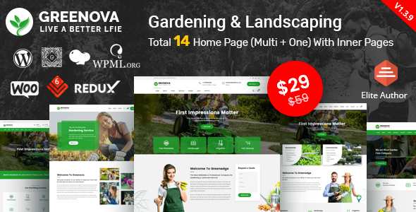 Photo of [Download] Greenova – Gardening & Landscaping WordPress Theme
