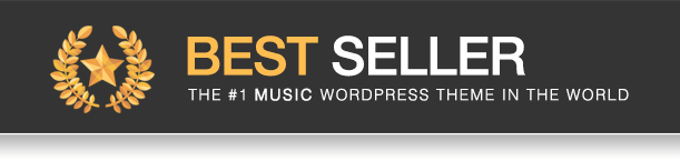 Lush is the best seller in Music WordPress Theme on ThemeForest