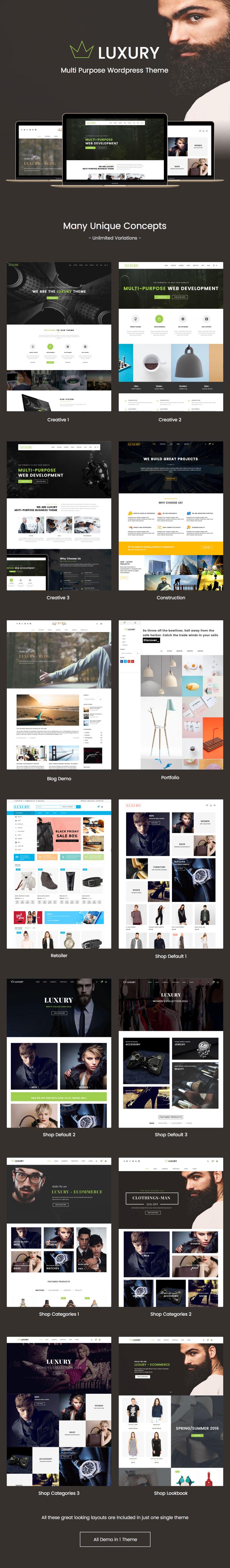 Luxury - Fashion WooCommerce WordPress theme