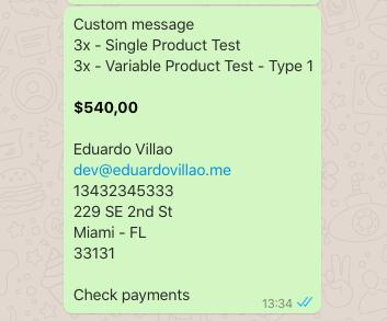Print Order on WhatsApp for WooCommerce