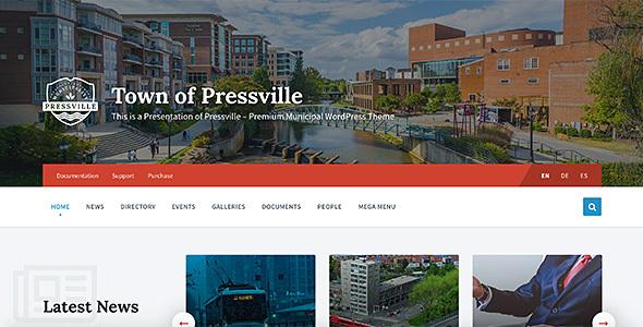 Photo of [Download] Pressville – Unique WordPress Theme for Municipalities
