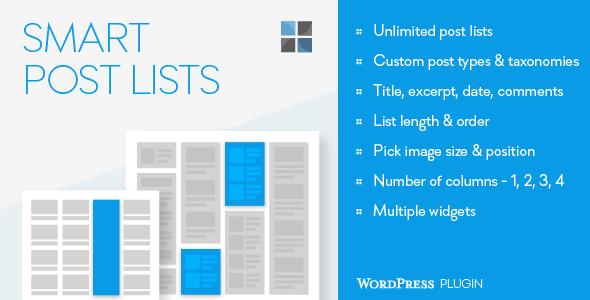 Photo of [Download] Smart Post Lists Widget for WordPress