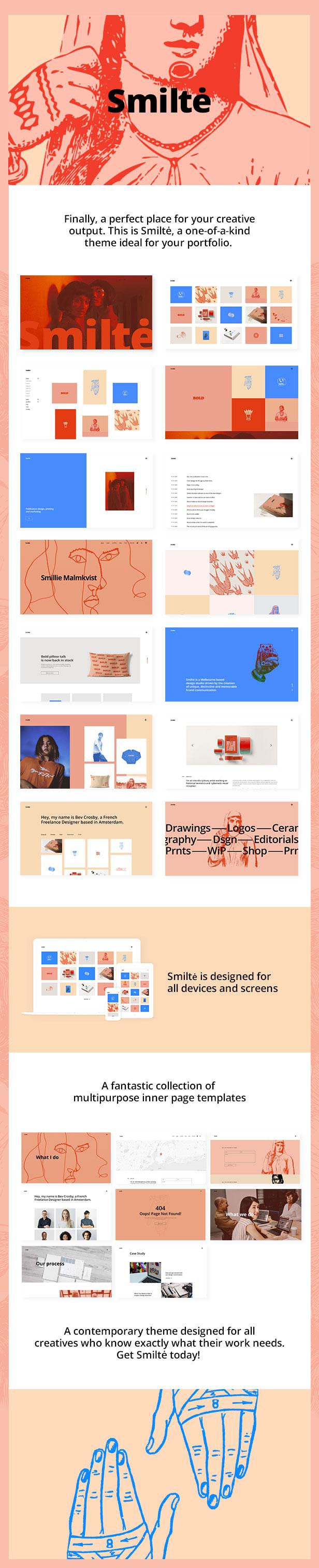 Smiltė - Simple Portfolio WordPress Theme - 1