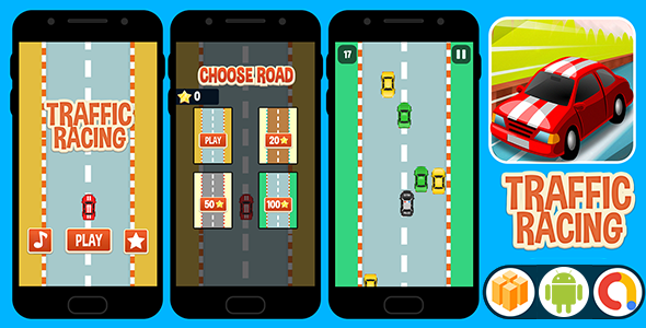 Photo of [Download] Traffic Racing ( BBDOC Buildbox 2.2.8 Project ) + Android Code with Admob