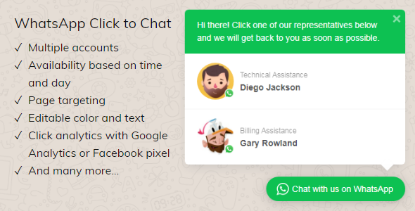 Photo of [Download] WhatsApp Click to Chat Plugin for WordPress