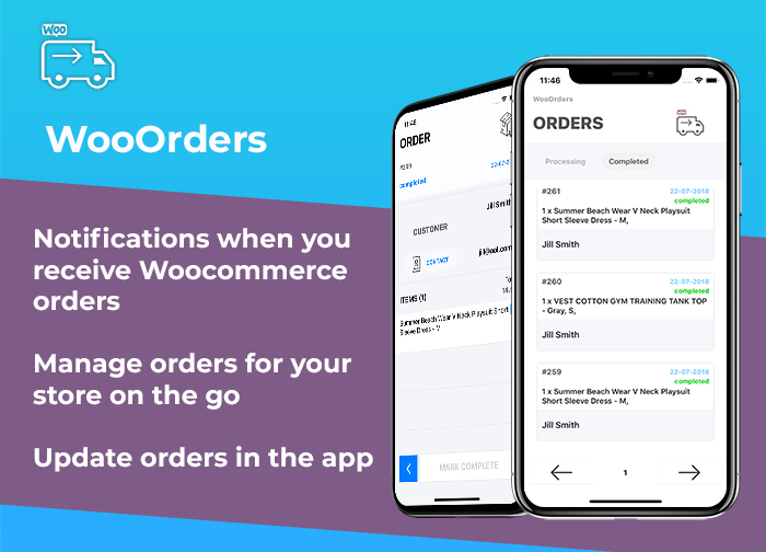 WooOrders - Woocommerce Order Manager For Mobile Written in Swift 4 Xcode IOS - 1