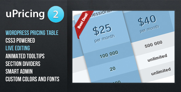 Photo of [Download] uPricing – Pricing Table for Wordpress